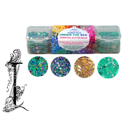 Incendium Arts | Essential Glitter Balm Palette - 4 Color UNDER THE SEA Power Pack - 20gr