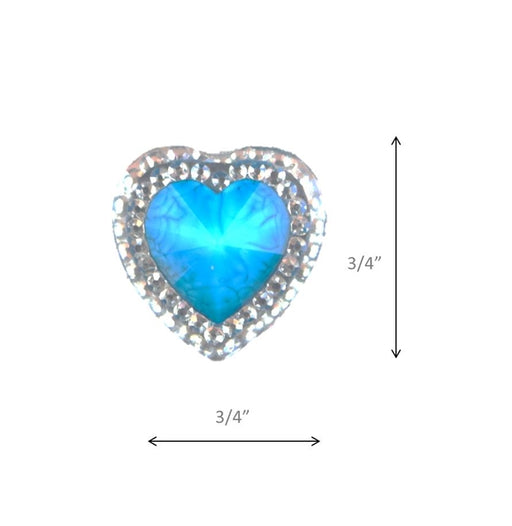 Jest Jewelz - Large Clear Trim with Blue Heart Accents - (20 pieces) - Jest Paint Store