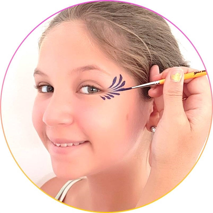 How to Face Paint - Step 6: How to Paint Tear Drops - Jest Paint Store