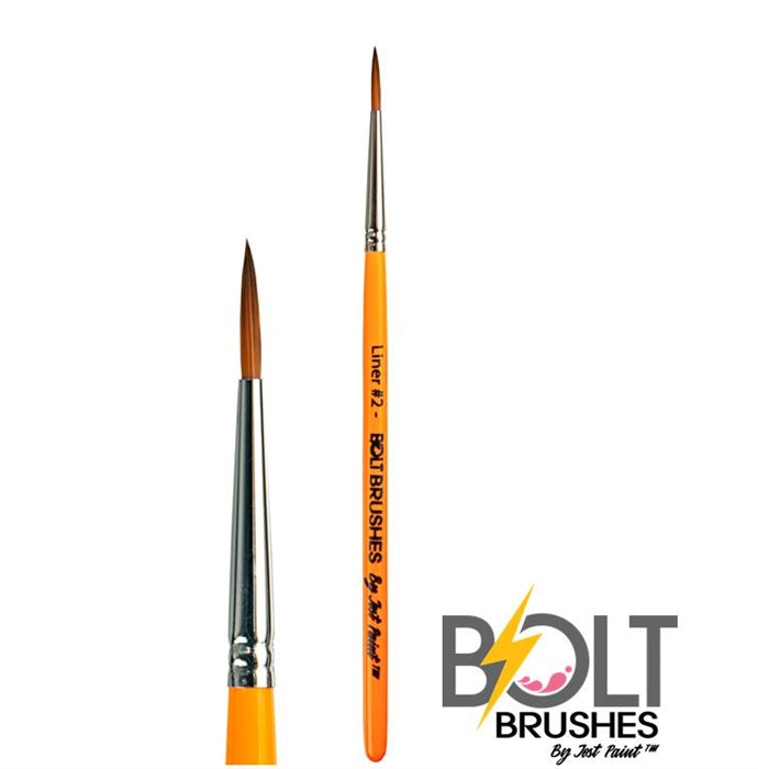 BOLT Face Painting Brushes by Jest Paint -  Liner #2 - Jest Paint Store