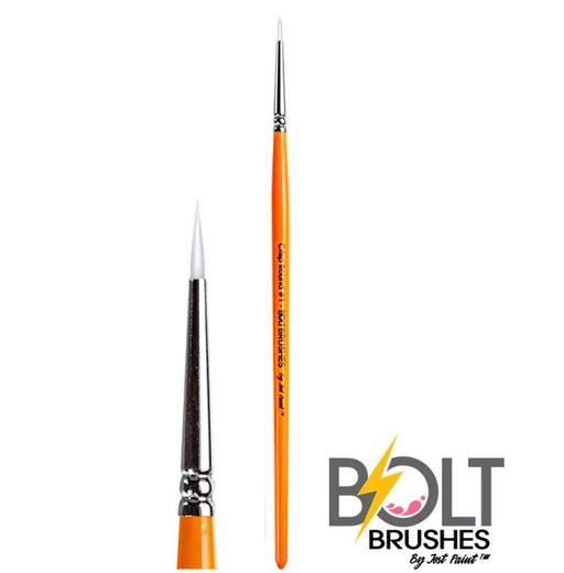 BOLT | Face Painting Brushes by Jest Paint - Crisp Round #1 - Jest Paint Store