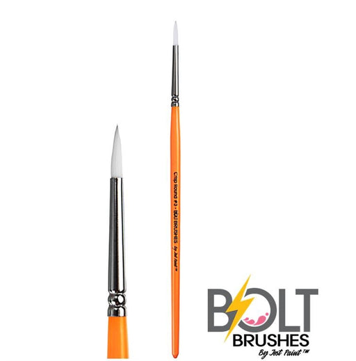 BOLT | Face Painting Brushes by Jest Paint - Crisp Round #3 - Jest Paint Store