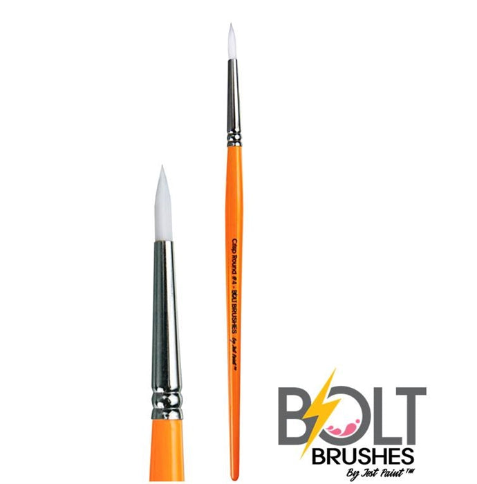 BOLT | Face Painting Brushes by Jest Paint - Crisp Round #4 - Jest Paint Store