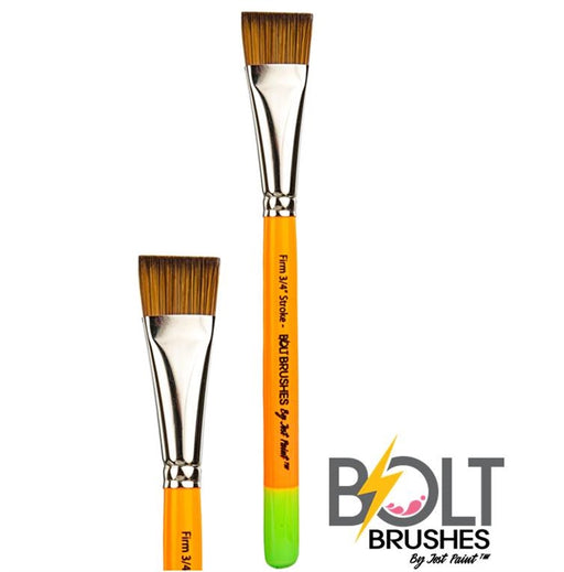"BOLT Face Painting Brushes by Jest Paint - FIRM 3/4"" Stroke - Jest Paint Store"