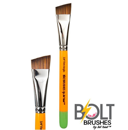 "BOLT Face Painting Brushes by Jest Paint - FIRM 3/4"" Angle - Jest Paint Store"