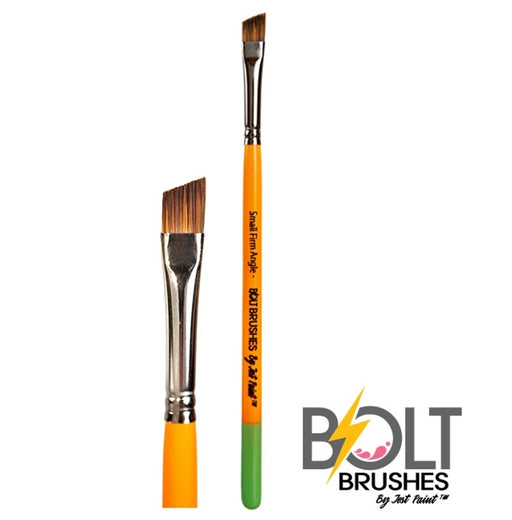 "BOLT Face Painting Brushes by Jest Paint - NEW Short Small FIRM Angle (1/4"") - Jest Paint Store"