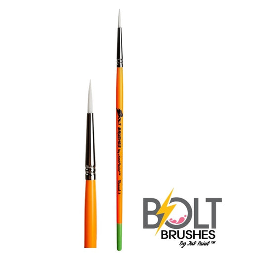 BOLT | Face Painting Brushes by Jest Paint - Thin Round #3 - Jest Paint Store