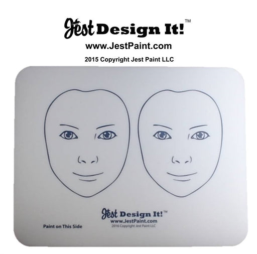 Jest Design It Face Painting Practice Board - 2 FRONT View Kids - Jest Paint Store