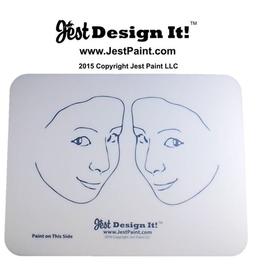 Jest Design It Face Painting Practice Board - 2 SIDE View Kids - Jest Paint Store