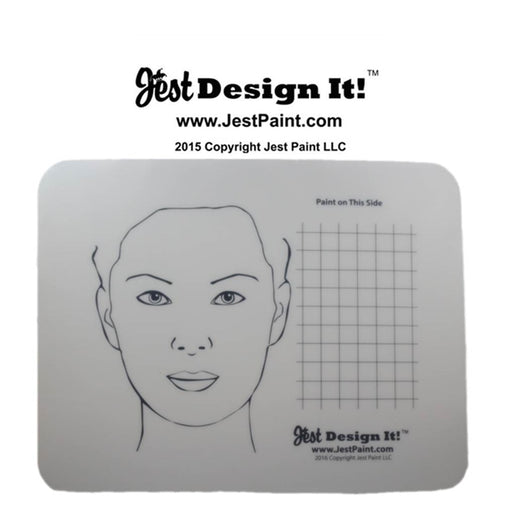 Jest Design It Face Painting Practice Board - Adult and Grid - Jest Paint Store