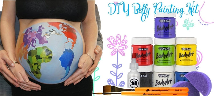 Global - DIY Belly Painting Kit - OUT OF STOCK - Jest Paint Store