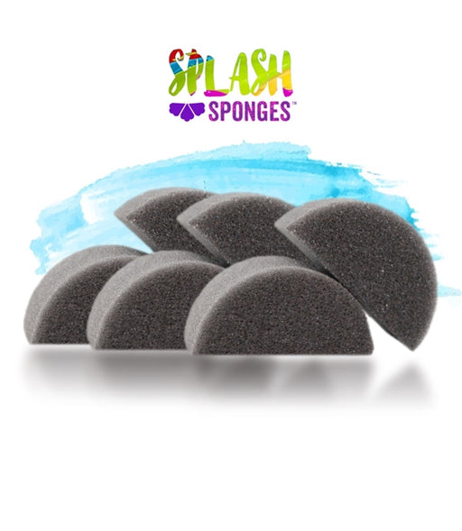 Splash Face Painting Sponge by Jest Paint - Half Moon (6 pieces) - Jest Paint Store