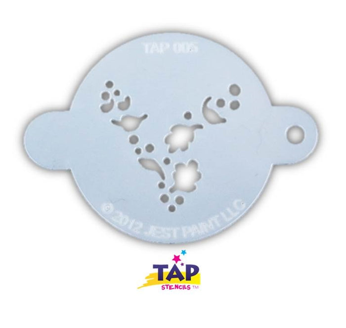 TAP 005 Face Painting Stencil - Wind Dust - Jest Paint Store