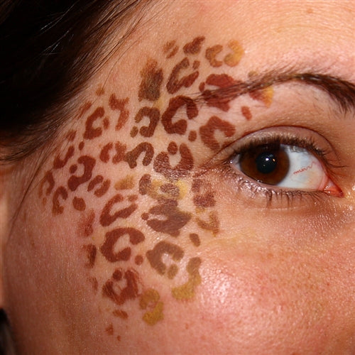 TAP 006 Face Painting Stencil - Animal Print - Jest Paint Store