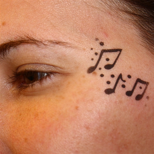TAP 011 Face Painting Stencil - Music - Jest Paint Store