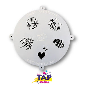 Galaxy TAP Face Painting Stencil - Holidays - DISCONTINUE