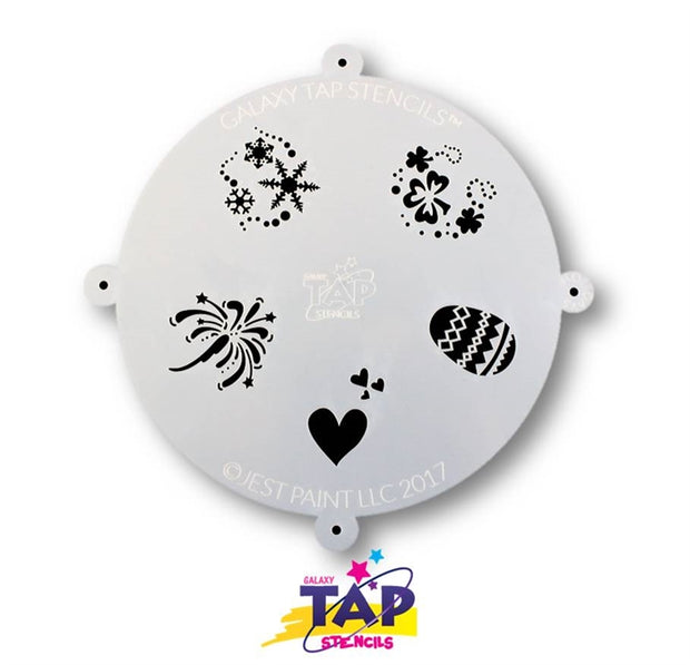 Galaxy TAP Face Painting Stencil - Holidays - DISCONTINUE 1