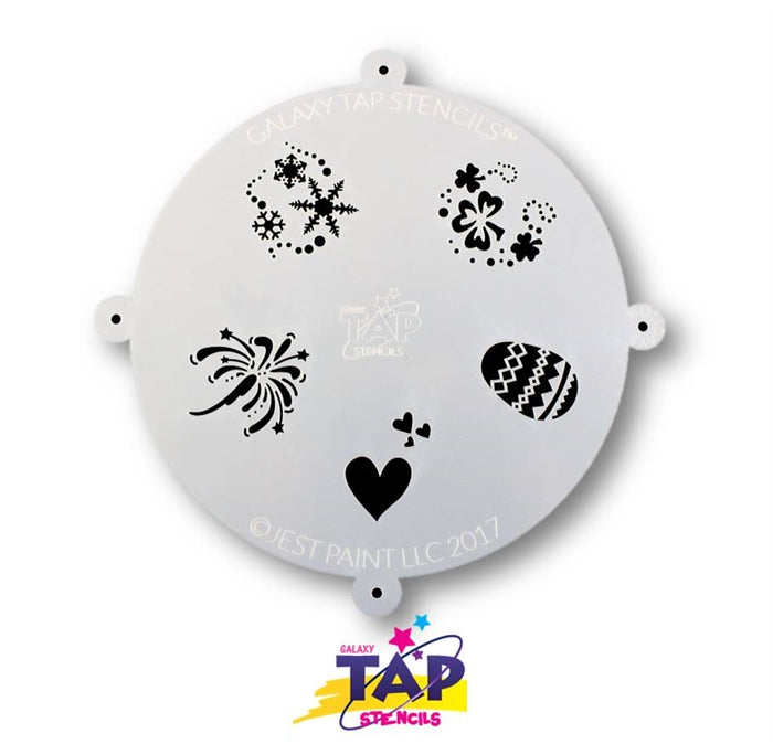 Galaxy TAP Face Painting Stencil - Holidays - DISCONTINUE - Jest Paint Store