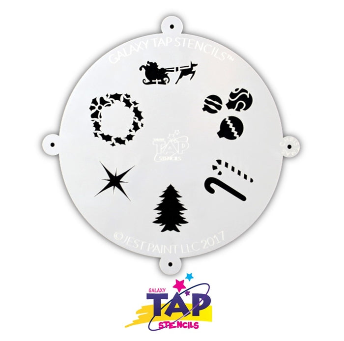 Galaxy TAP Face Painting Stencil - Christmas - Jest Paint Store