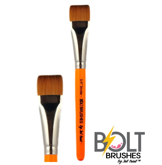 "BOLT Face Painting Brushes by Jest Paint - NEW Pointed Handle - 3/4"" Stroke"