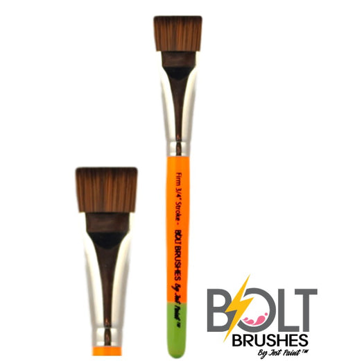 "BOLT Face Painting Brushes by Jest Paint - NEW Pointed Handle - FIRM 3/4"" Stroke"