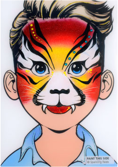 Sparkling Faces | Face Painting Practice Board - Julian - Jest Paint Store