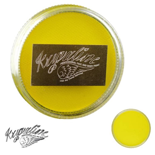 Kryvaline Face Paint Essential (Creamy line) - Yellow 30gr - Jest Paint Store
