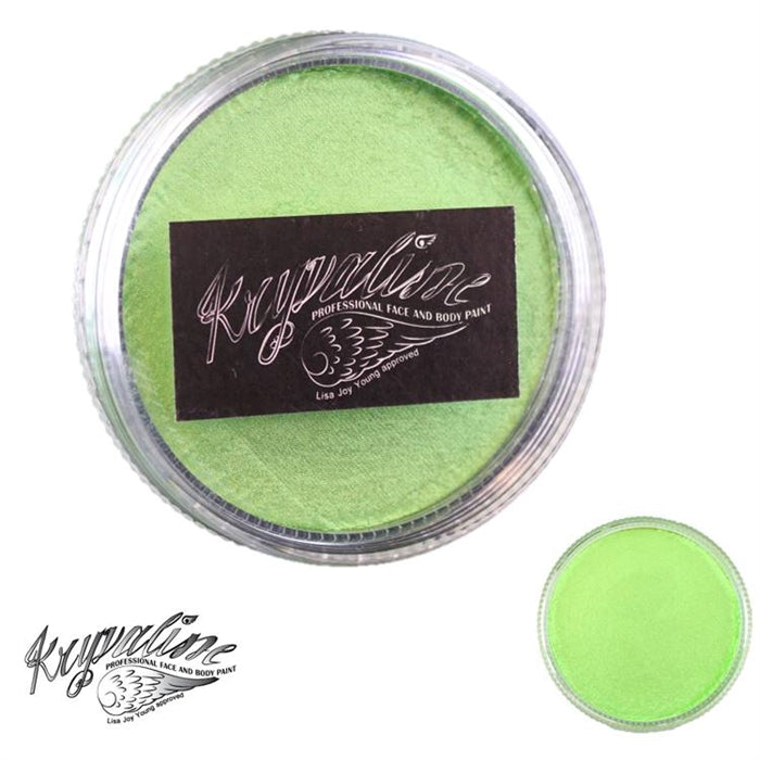 Kryvaline Face Paint (Creamy line) - Pearly Apple Green 30gr - Jest Paint Store