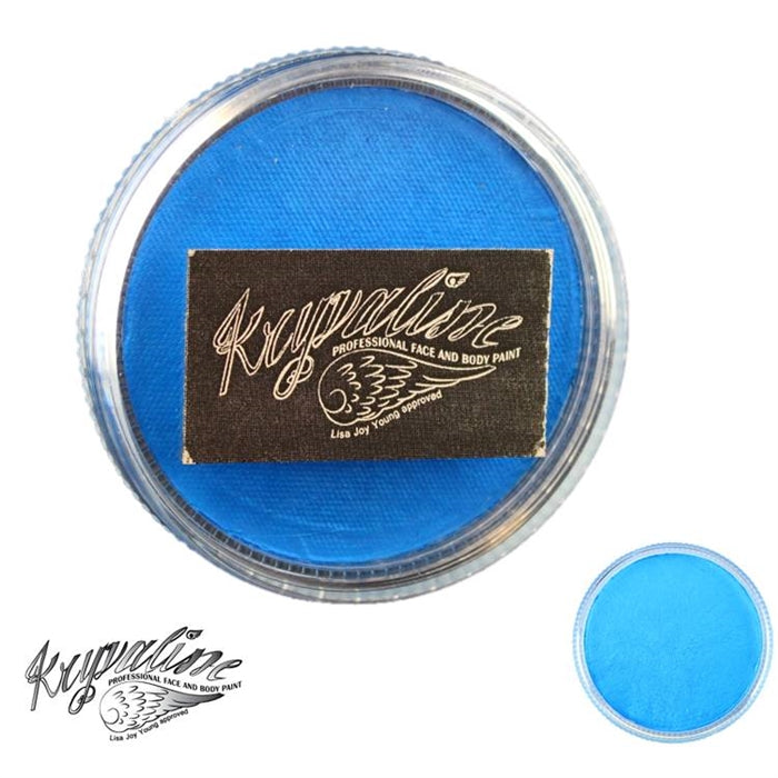 Kryvaline Face Paint (Creamy line) - Pearly Bright Blue 30gr - Jest Paint Store