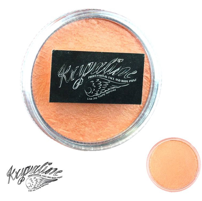 Kryvaline Face Paint (Creamy line) - Pearly Orange 30gr - Jest Paint Store