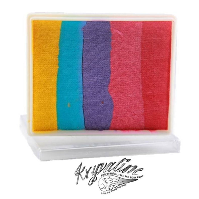 Kryvaline Face Paint Split Cake (Regular Line) - Large Glowgaze 50gr - Jest Paint Store