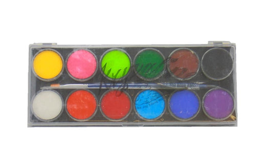 Kryvaline Face Paint (Reg Line) - Large 12 Color Essential Palette - Jest Paint Store