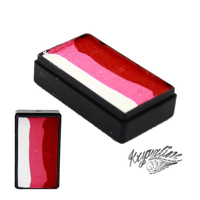 Kryvaline Face Paint Split Cake (Regular Line) - Small Rose 30gr - Jest Paint Store