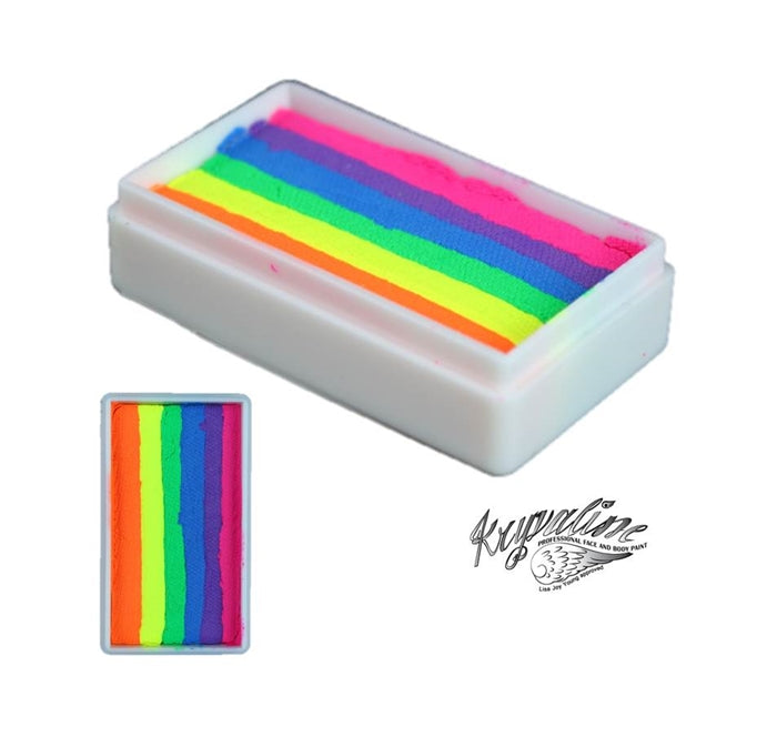 Kryvaline Paint Split Cake (Regular Line) - Rainbow Neon 30gr - Jest Paint Store