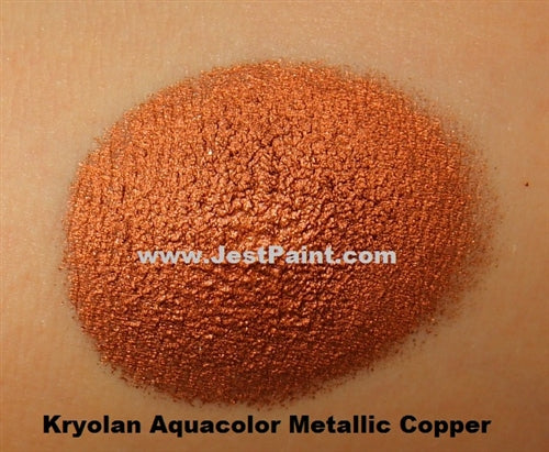 Kryolan Face Paint  Aquacolor - Metallic Copper - 2oz/60gr - Jest Paint Store - Swatch