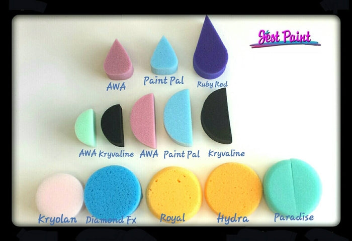 Kryolan - Pink Round Makeup Sponge - Jest Paint Store - Comparison View