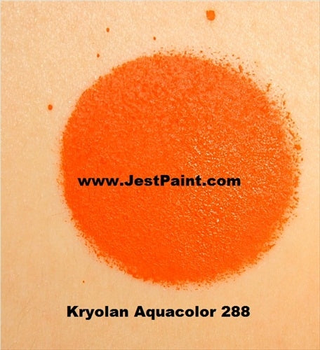 Kryolan Face Paint  Aquacolor - 288 (Orange) - 30ml - Jest Paint Store - Swatch
