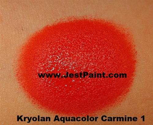 Kryolan Face Paint  Aquacolor - Carmine1 (Red) - 30ml - Jest Paint Store - Swatch
