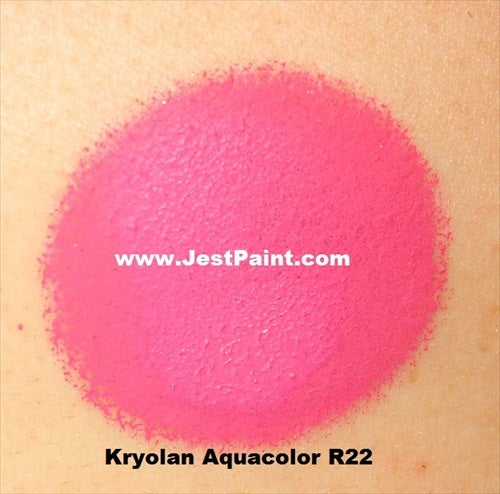 Kryolan Face Paint  Aquacolor - R22 (Bright Pink) - 30ml - Jest Paint Store - Swatch