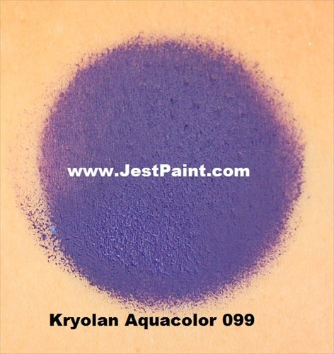 Kryolan Face Paint  Aquacolor - 099 (Purple) - 30ml - Jest Paint Store - Swatch