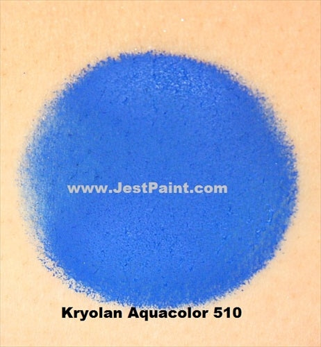 Kryolan Face Paint  Aquacolor - 510 (Royal Blue) - 30ml - Jest Paint Store - Swatch