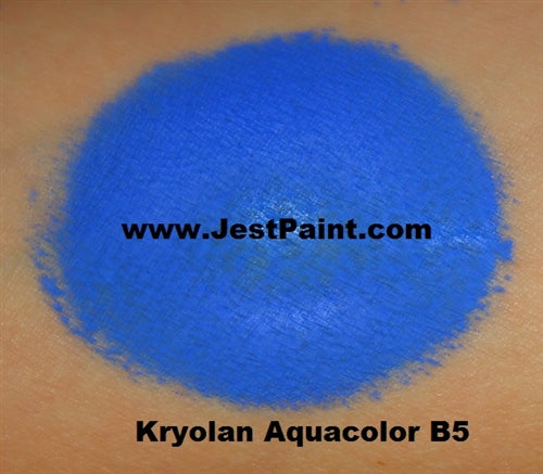 Kryolan Face Paint  Aquacolor - B5 (Medium Blue) - 30ml - Jest Paint Store