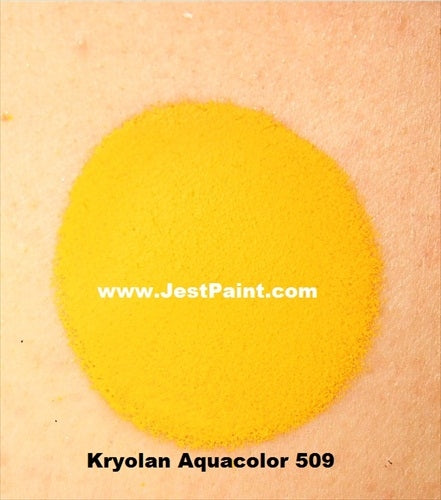 Kryolan Face Paint  Aquacolor - 509 (Bright Yellow) - 30ml - Jest Paint Store - Swatch
