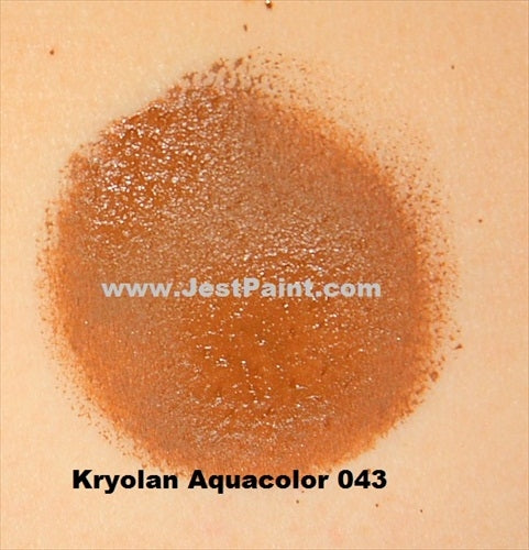 Kryolan Face Paint  Aquacolor - 043 (Medium Brown) - 30ml - Jest Paint Store - Swatch