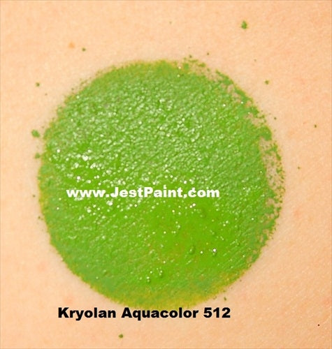 Kryolan Face Paint  Aquacolor - 512 (Medium Green) - 30ml - Jest Paint Store