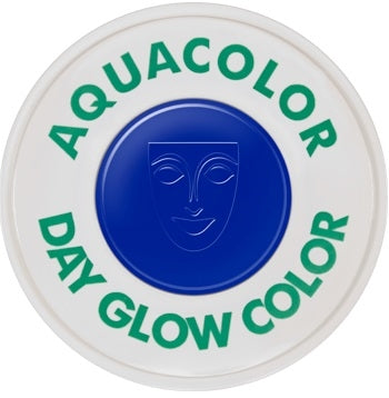 Kryolan Day Glow Aquacolor - UV Blue - 30ml - Jest Paint Store