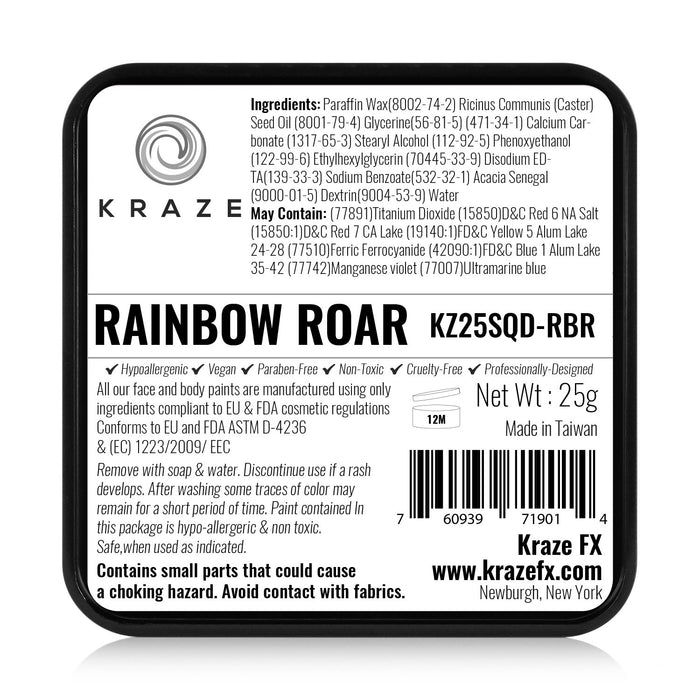 Kraze FX Face and Body Paints | Domed Rainbow Cake - Rainbow Roar 25gr - Jest Paint Store