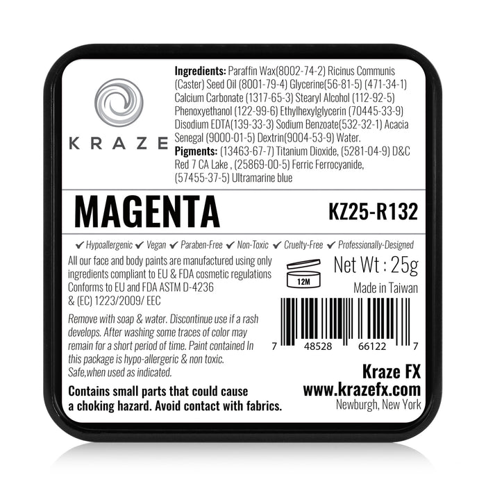 Kraze FX Face and Body Paints | Magenta 25gr