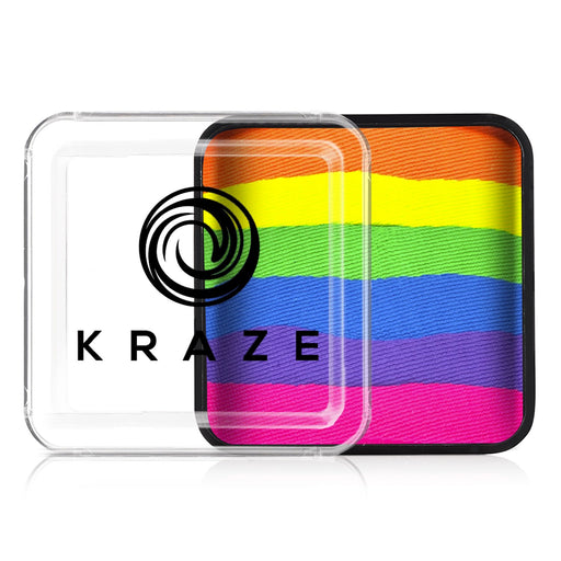 Kraze FX Special Effects Paints | Domed Rainbow Cake - Neon Rave 25gr - Jest Paint Store