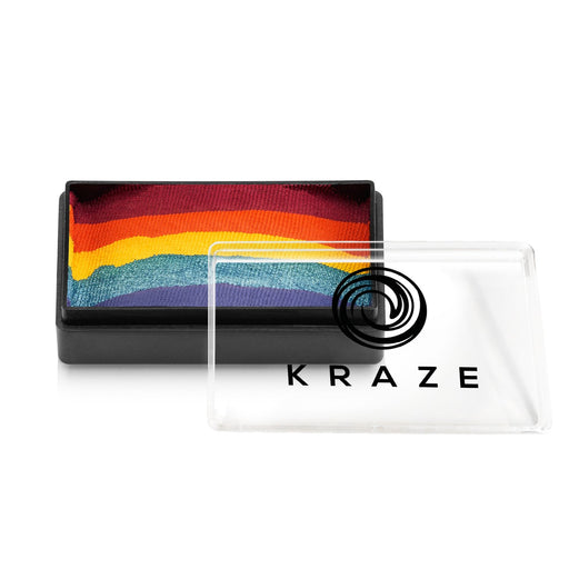 Kraze FX Face and Body Paints | Domed 1 Stroke Cake - Girly Girl Rainbow 25gr